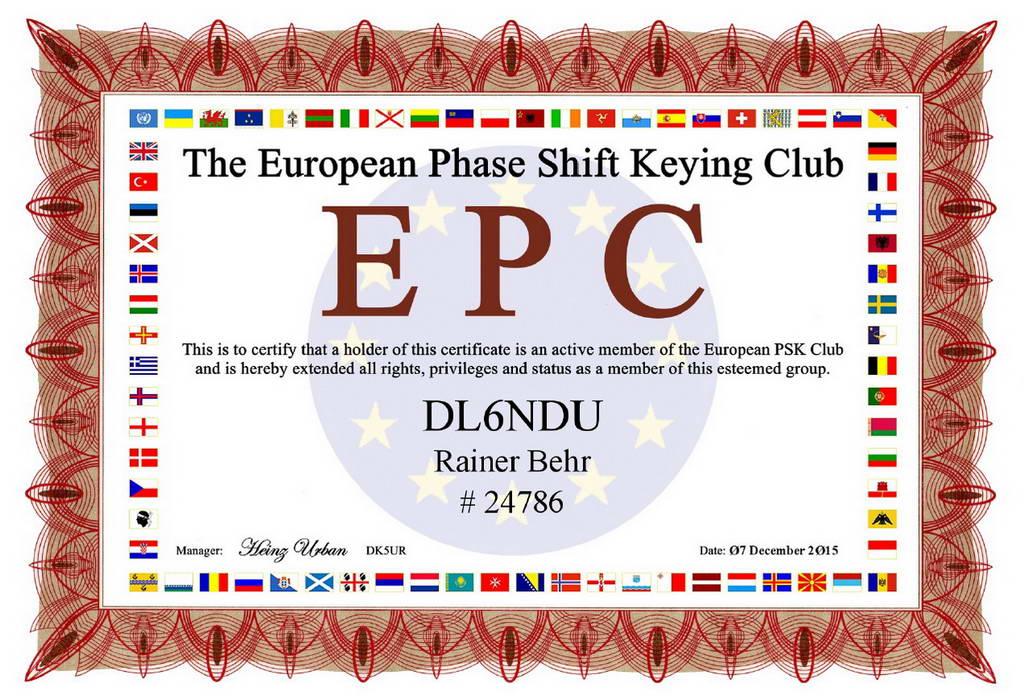 DL6NDU EPC Zertifikat-1024 X 700